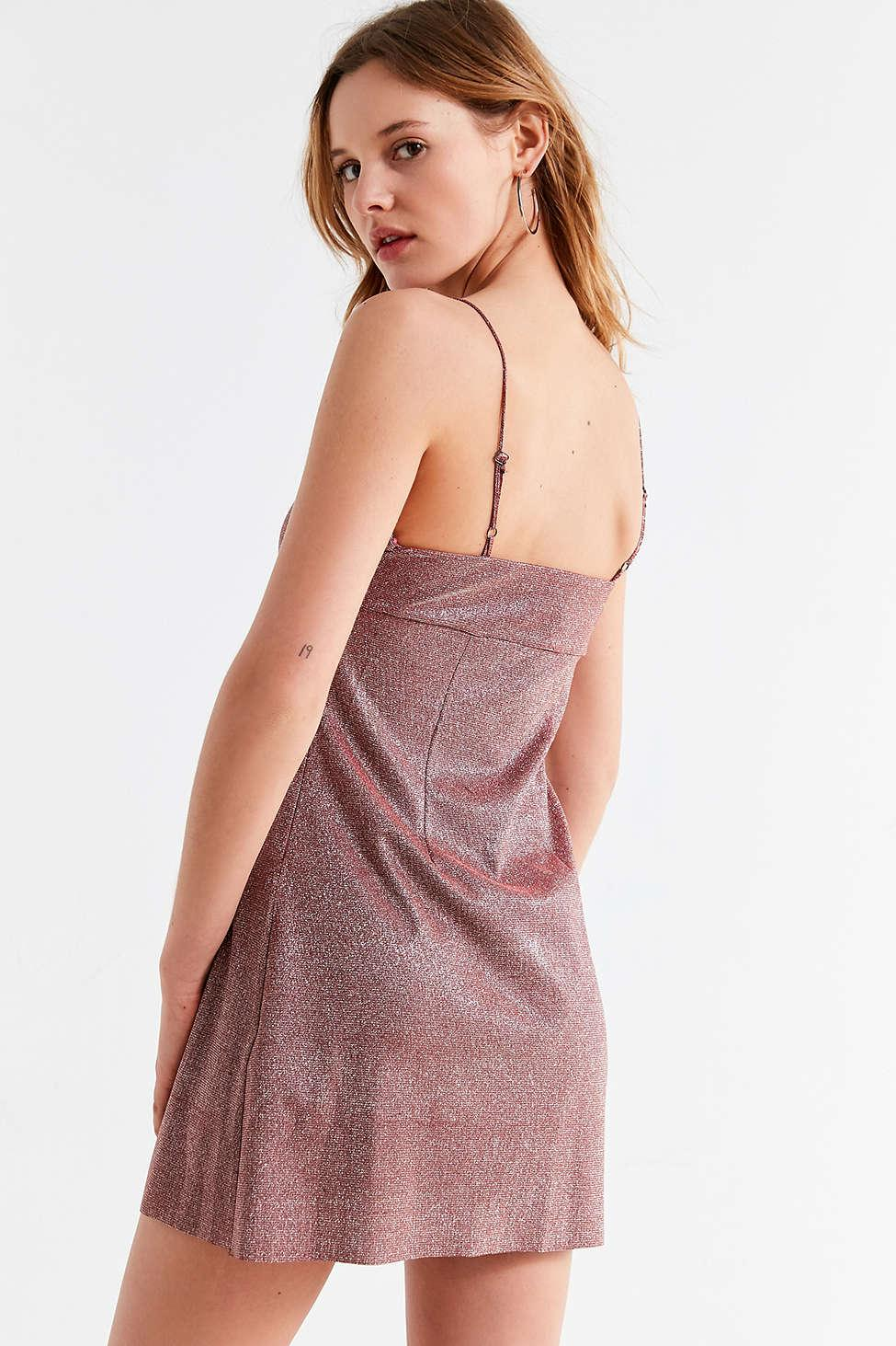 71ca199e Urban Outfitters Uo Sparkle Moon Beam Empire Waist Mini Dress in ...