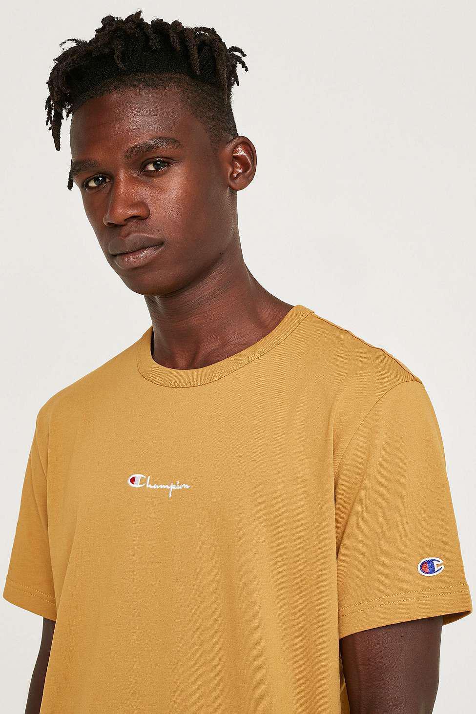 783e78e3fa76 Champion X Uo Brass Script Reverse Weave T-shirt - Mens M in Brown ...