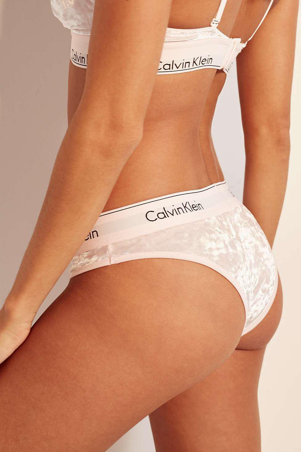 6edc68fbf6 Calvin Klein Pink Velvet Knickers - Womens M in Pink - Lyst