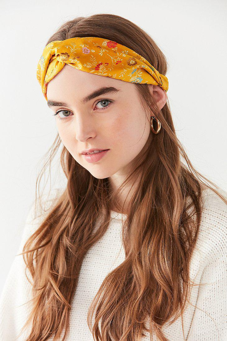Lyst - Urban Outfitters Floral Brocade Headwrap e95ec618dcf