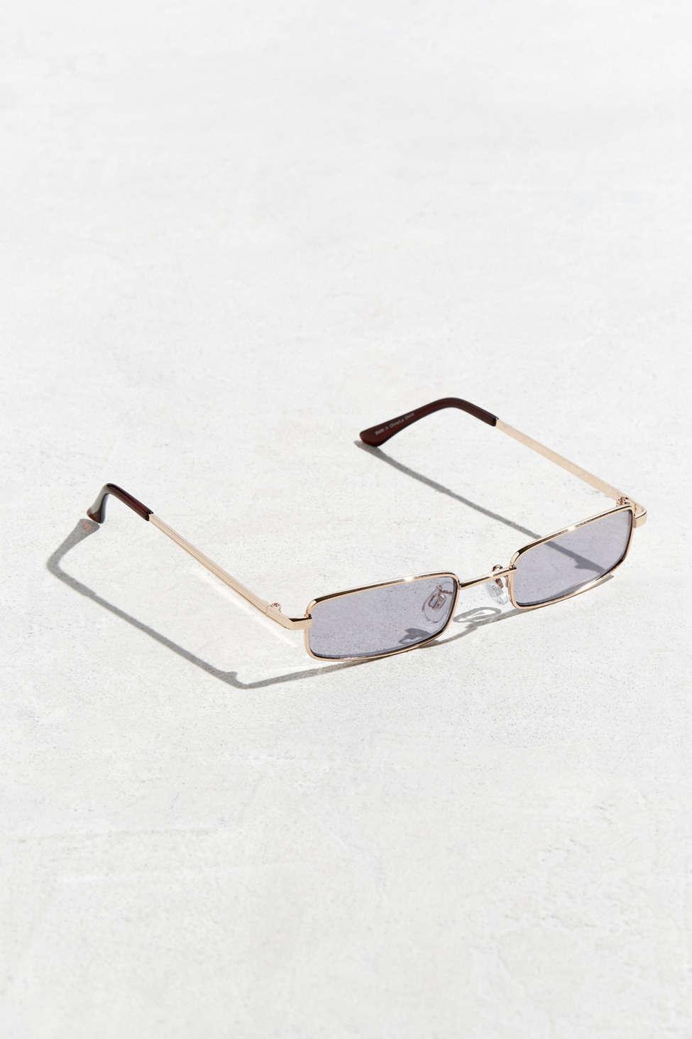 15e526e8abb Lyst - Urban Outfitters Metal Rectangle Sunglasses in Metallic for Men