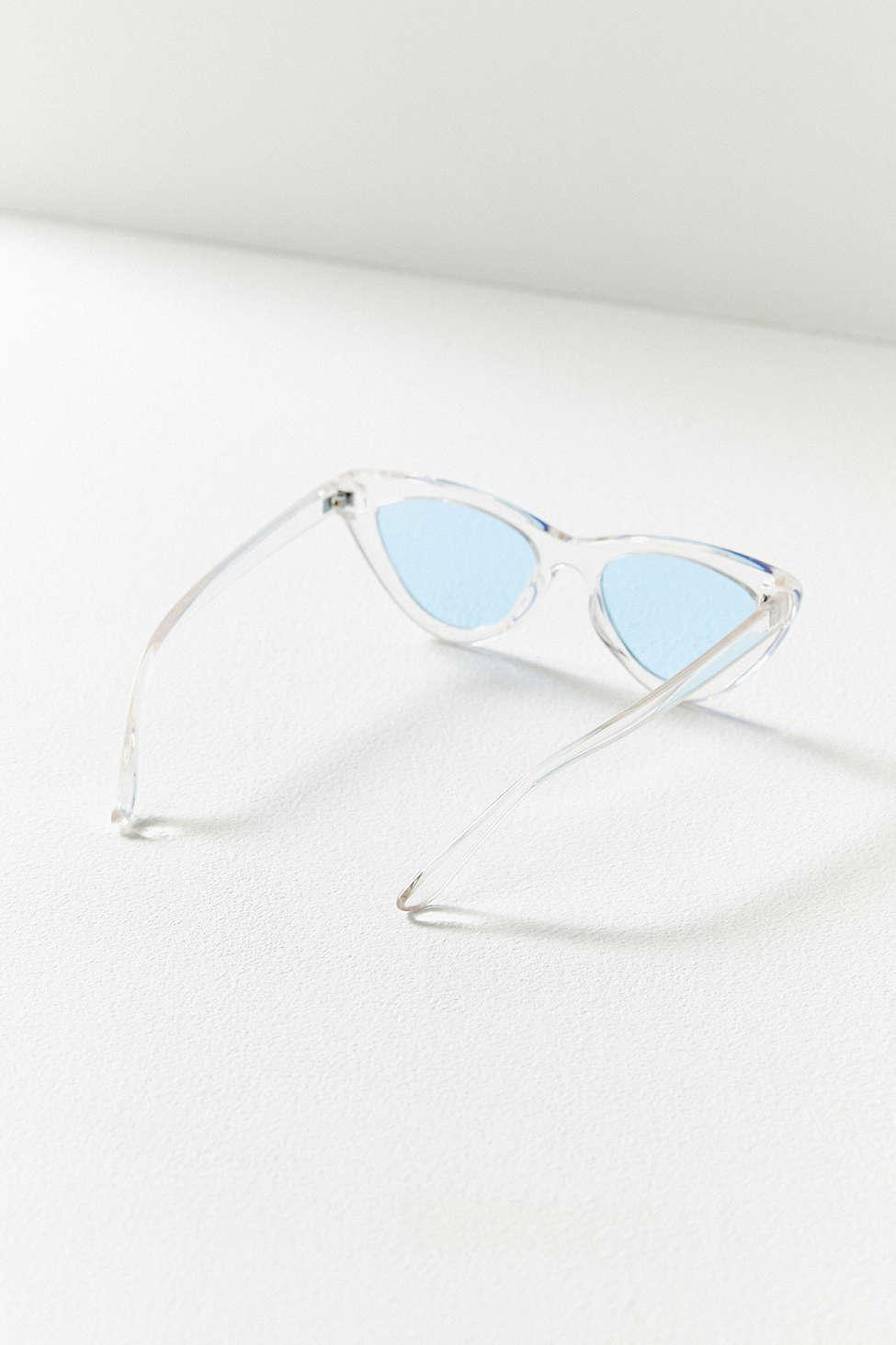 1d269cd289cea Lyst - Urban Outfitters Cry Baby Cat-eye Sunglasses in Blue