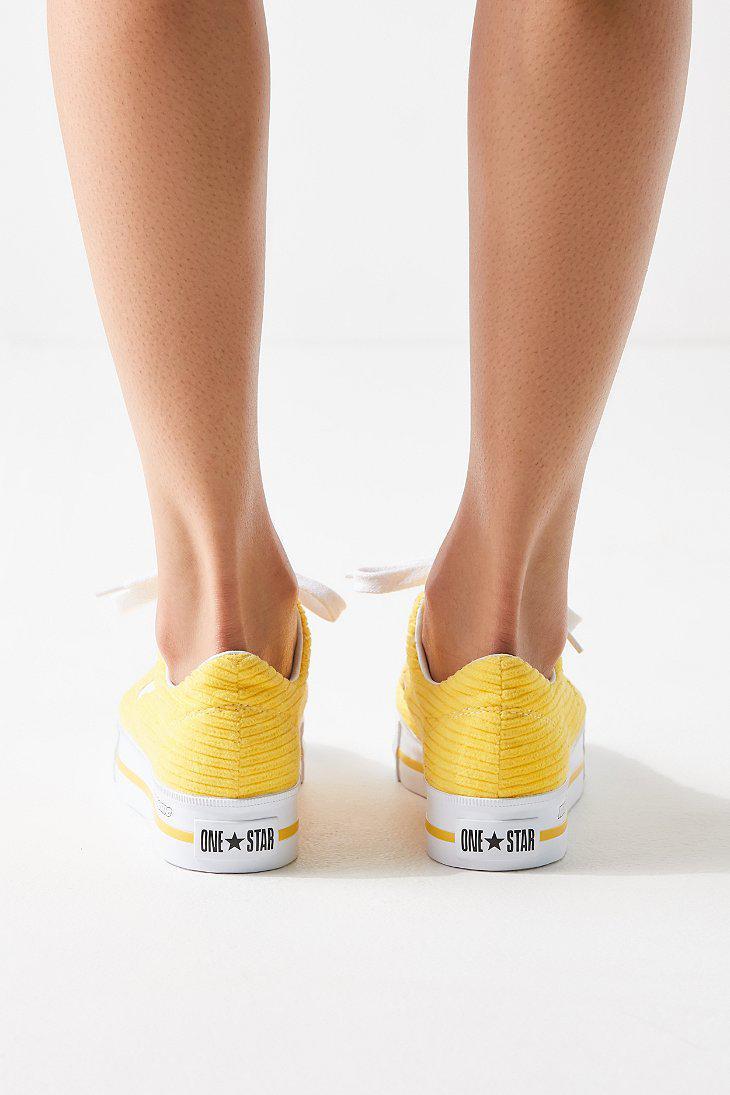 ea2f0a3dc52c75 Lyst - Converse Converse One Star X Mademe Corduroy Platform Sneaker ...