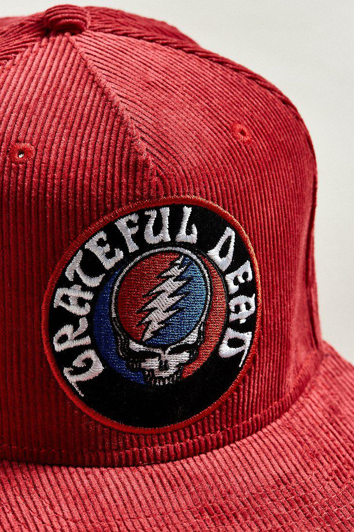 35fb1a84025 Lyst - Urban Outfitters The Grateful Dead Corduroy Snapback Hat in ...