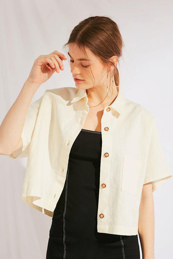 5163d6a5 Urban Outfitters Urban Renewal Remnants Linen Button-down Shirt in ...