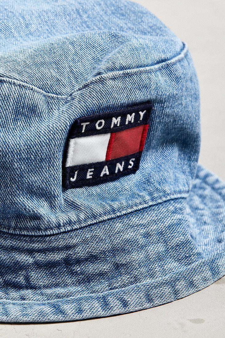 abe7360dd2d Lyst - Tommy Hilfiger Tommy Jeans  90s Sailing Denim Bucket Hat in ...