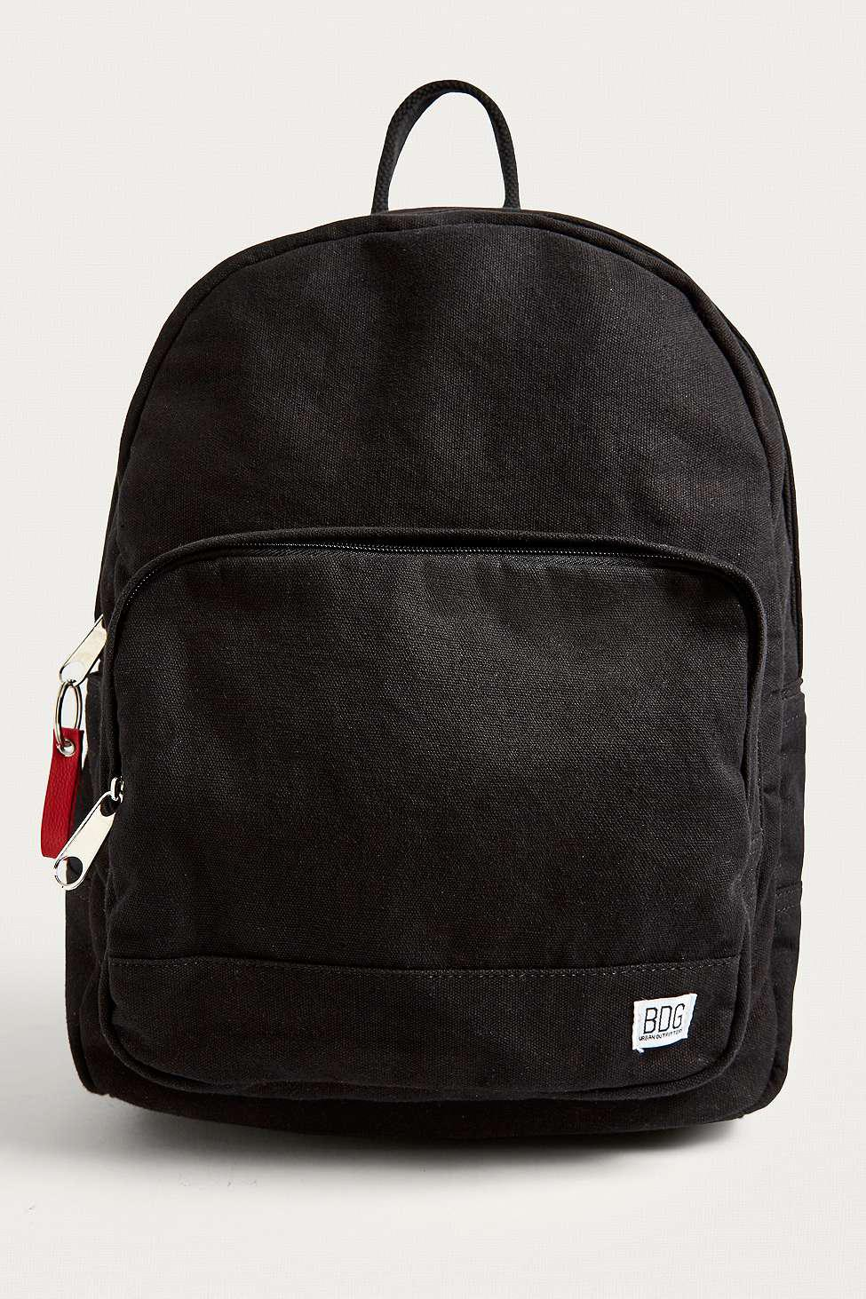 Bdg Black Canvas Roll Top Backpack