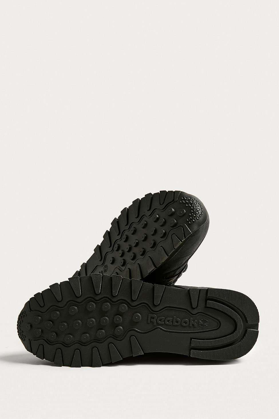 10e21d01093 Reebok Classic Leather Tu Black Trainers - Mens Uk 11 in Metallic ...