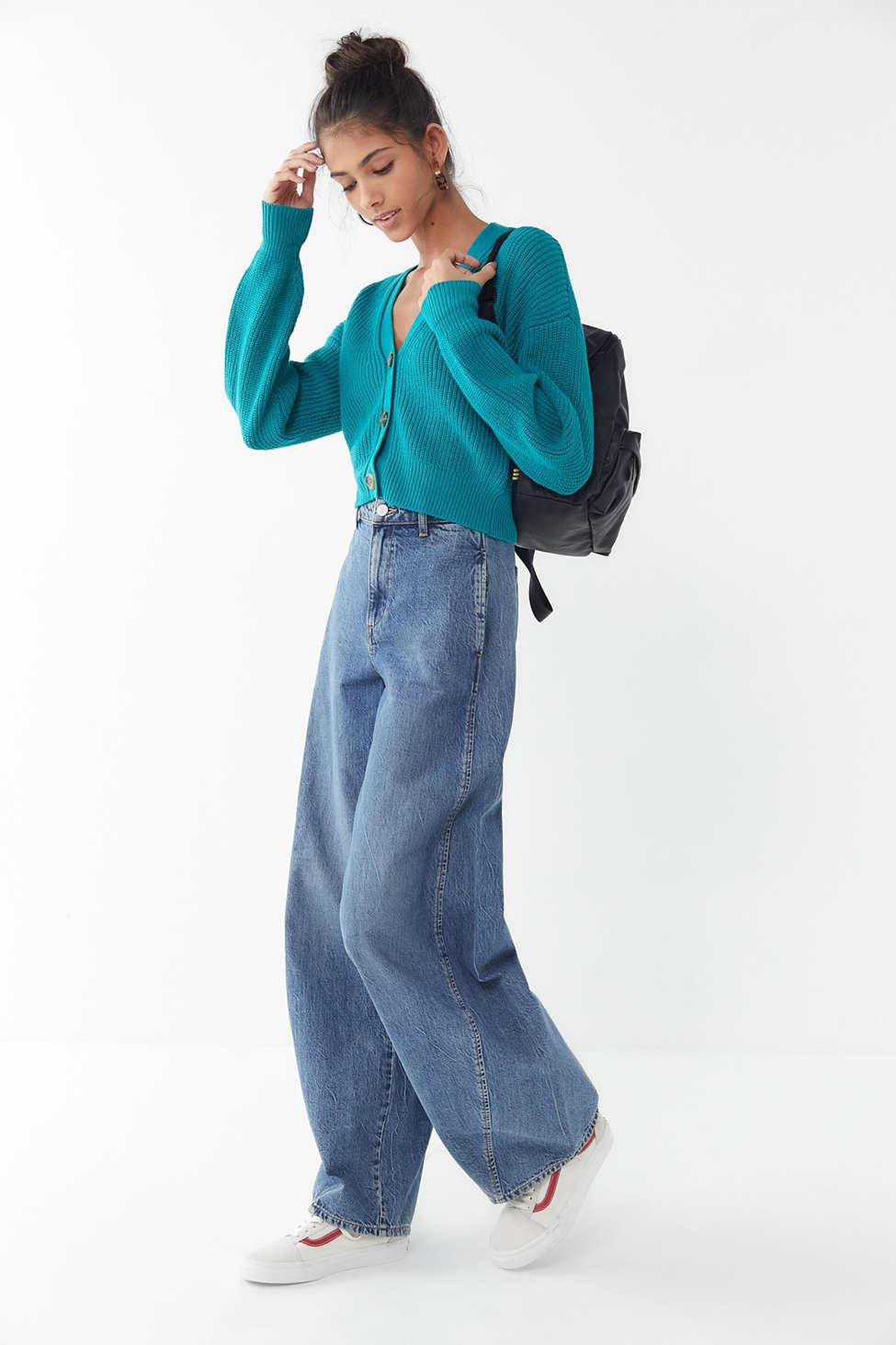 7090b6f5ef798 Lyst - Urban Outfitters Uo Kai Cropped Cardigan in Blue - Save 51%