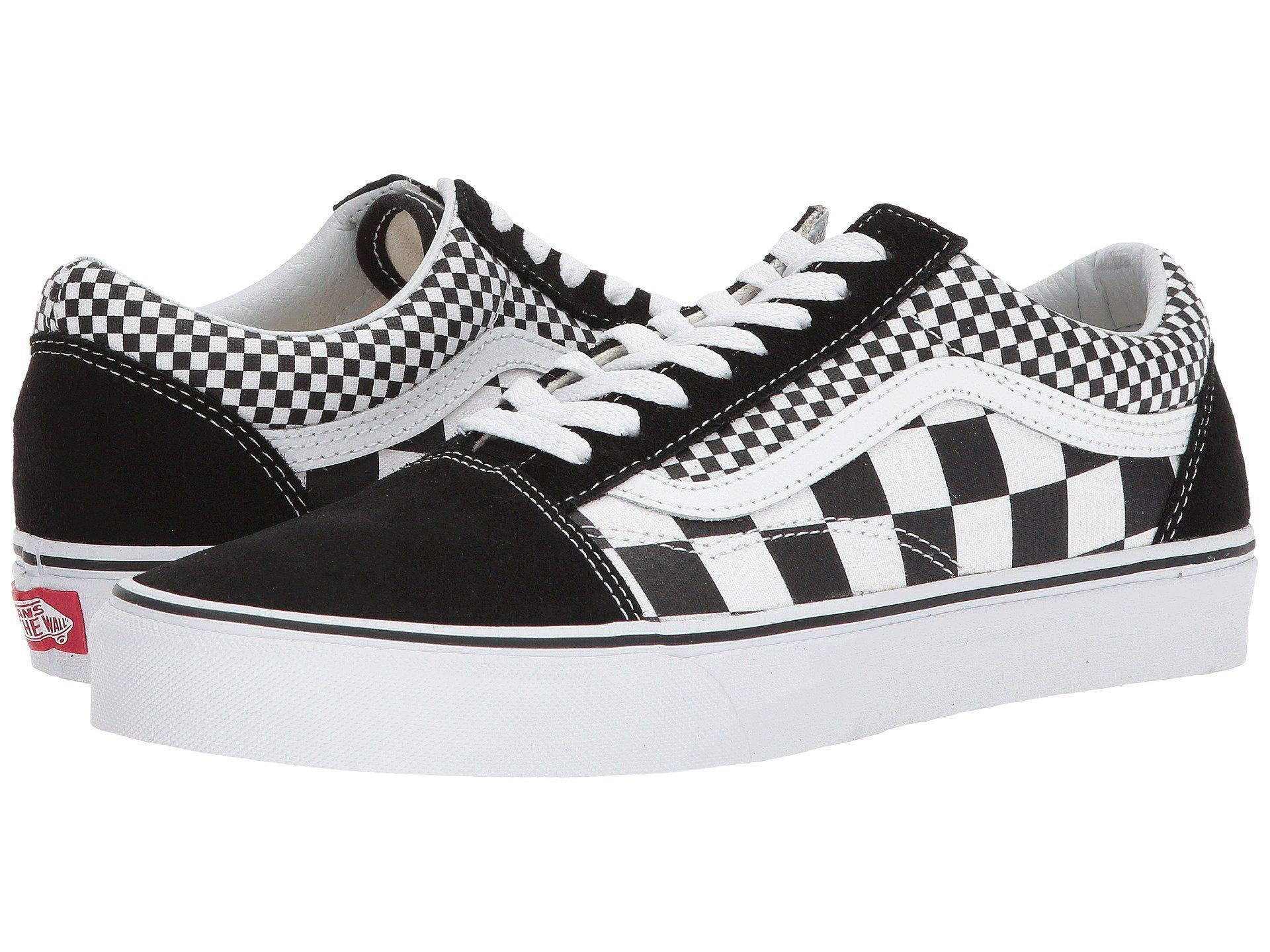8959f1cab5 Lyst - Vans Mix Checker Old Skool in Black for Men