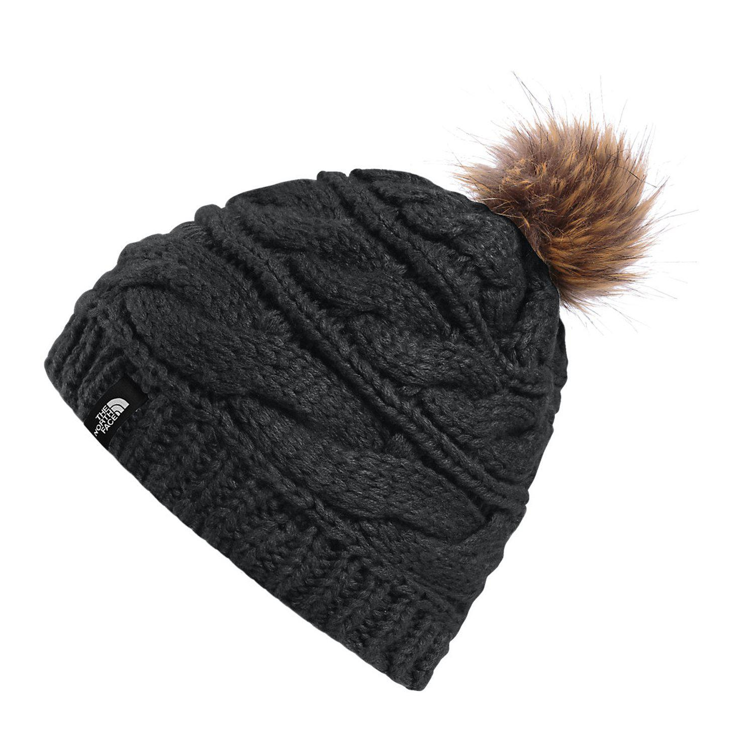 75f75f5f1b2 Lyst - The North Face Triple Cable Fur Pom Beanie in Black