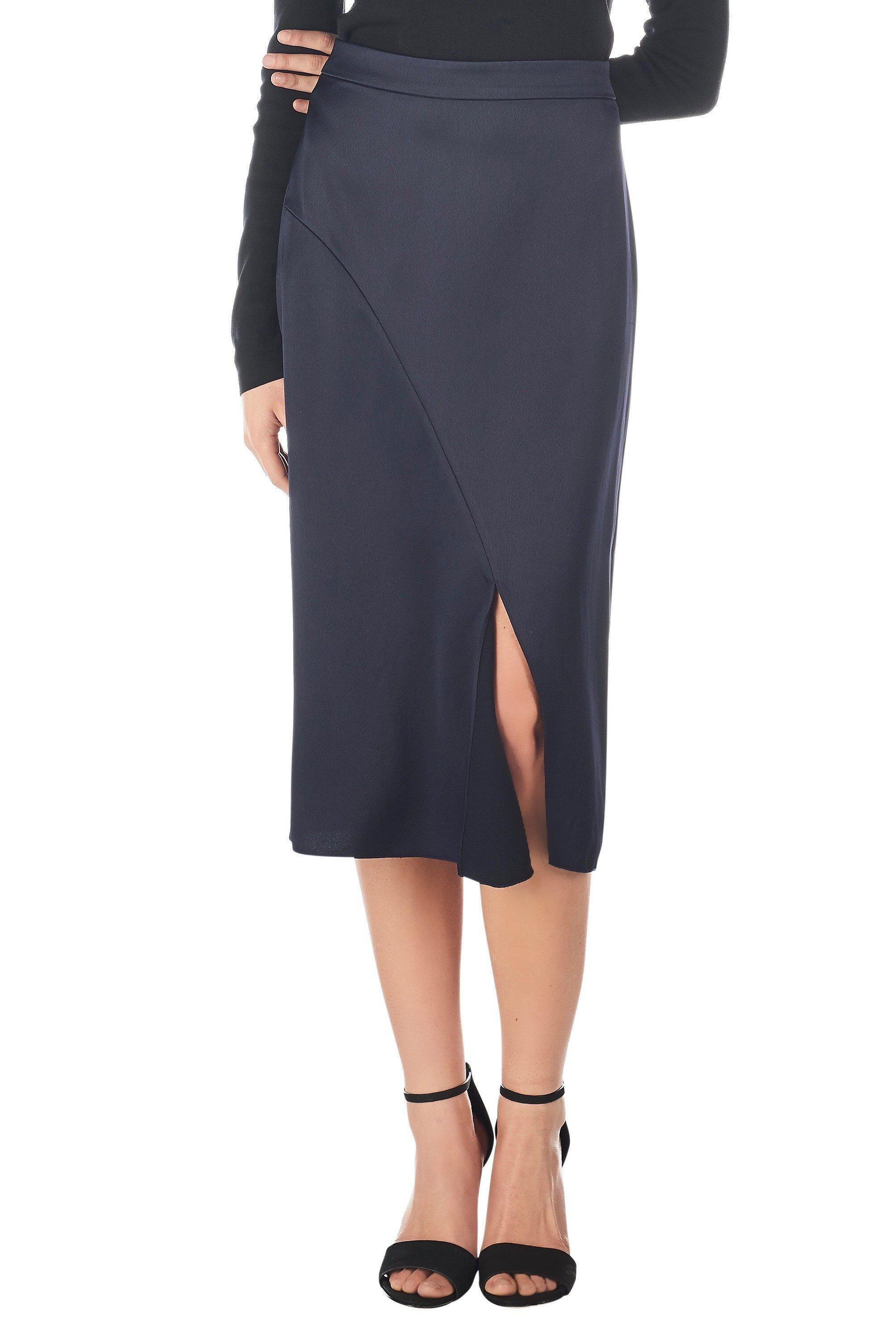drapes skirt tibi black jersey footage products draped filament