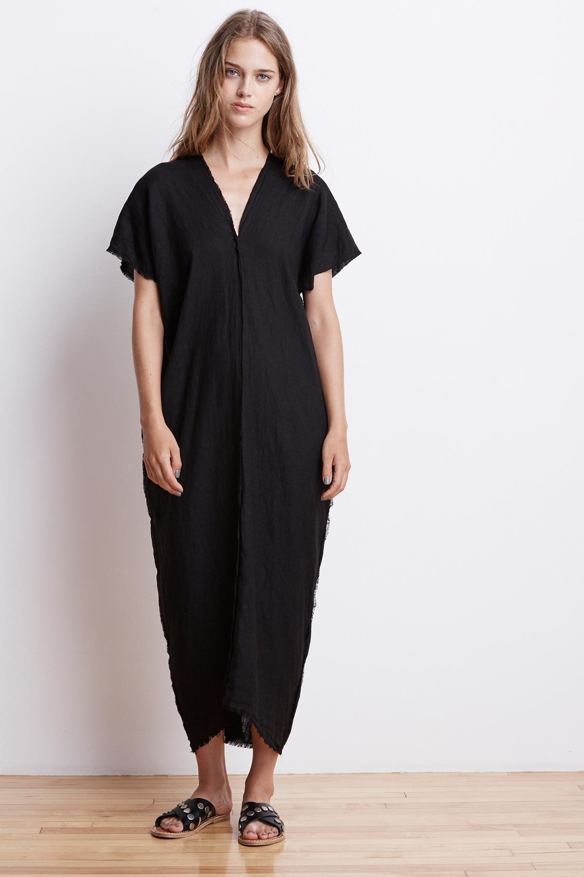 b526a72c0b Lyst - Velvet By Graham   Spencer London Woven Linen Caftan Dress in ...