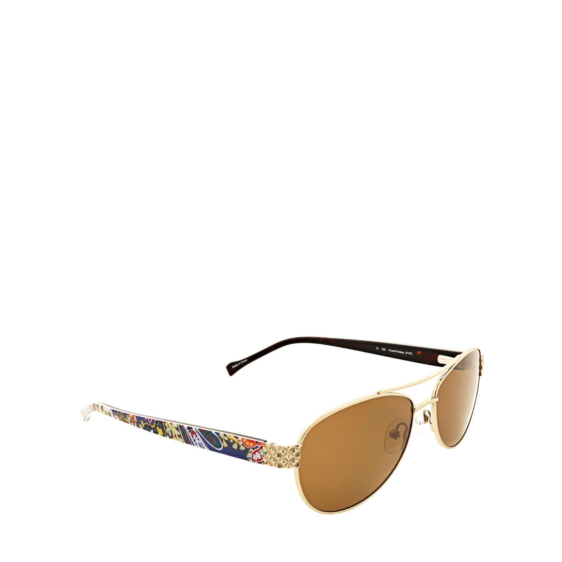 c81342d37 Vera Bradley Marlene Polarized Aviator Sunglasses - Lyst
