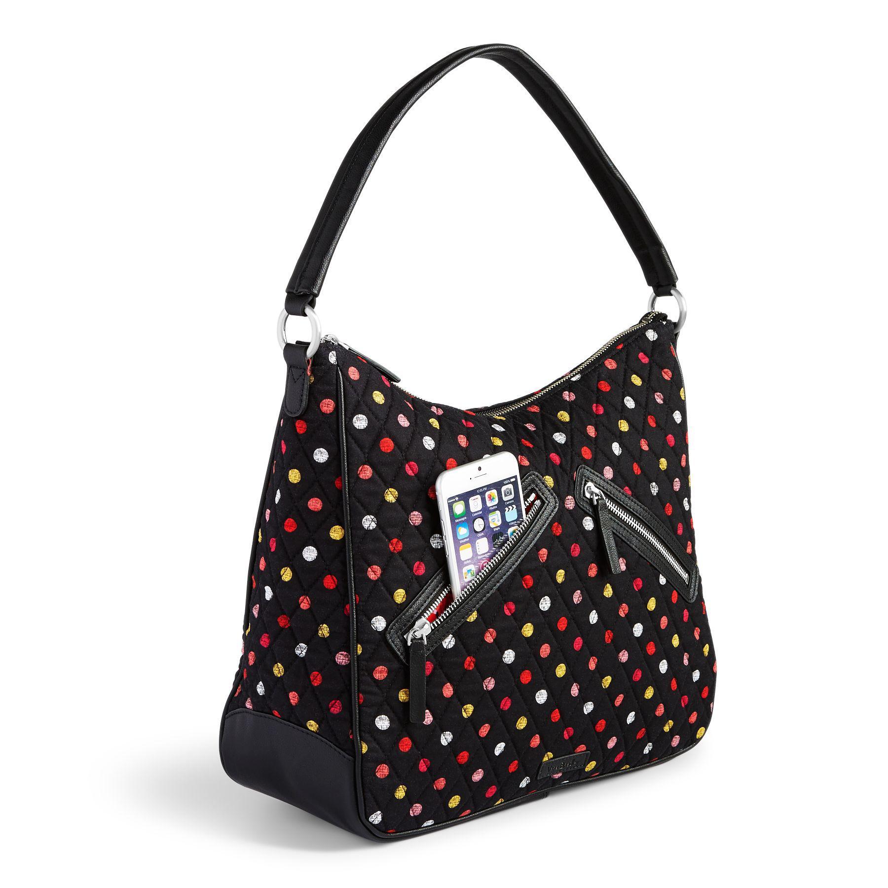 Lyst - Vera Bradley Vivian Hobo Bag in Black