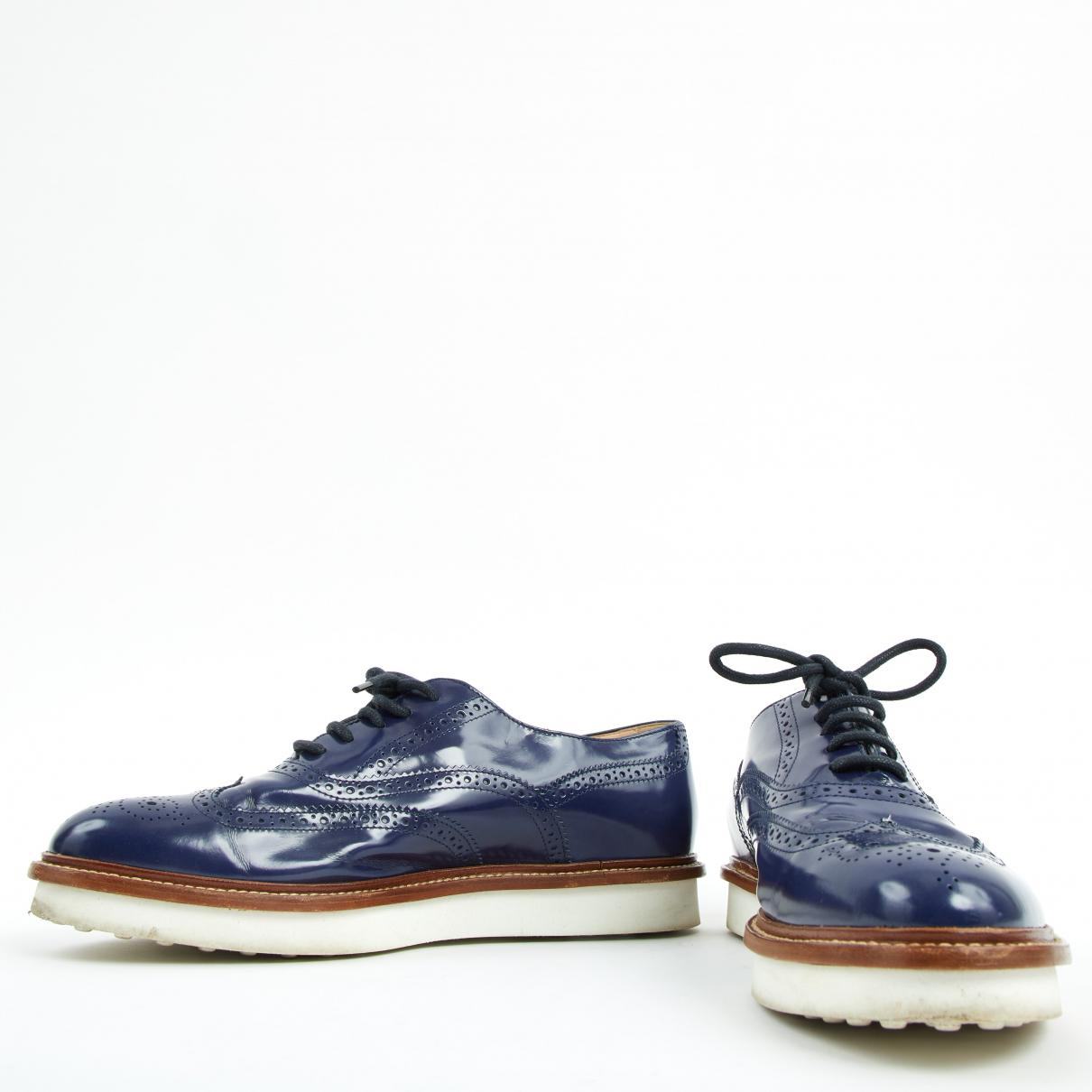 Pre-owned - Patent leather lace ups Tod's gMZVbB