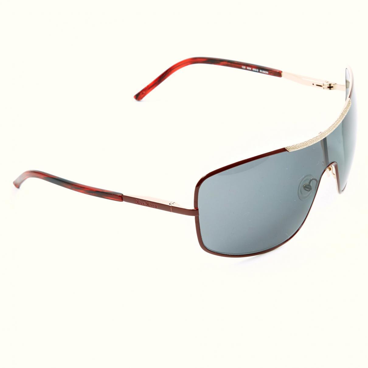 b2a6067f21de4 Max Mara Burgundy Metal Sunglasses - Lyst