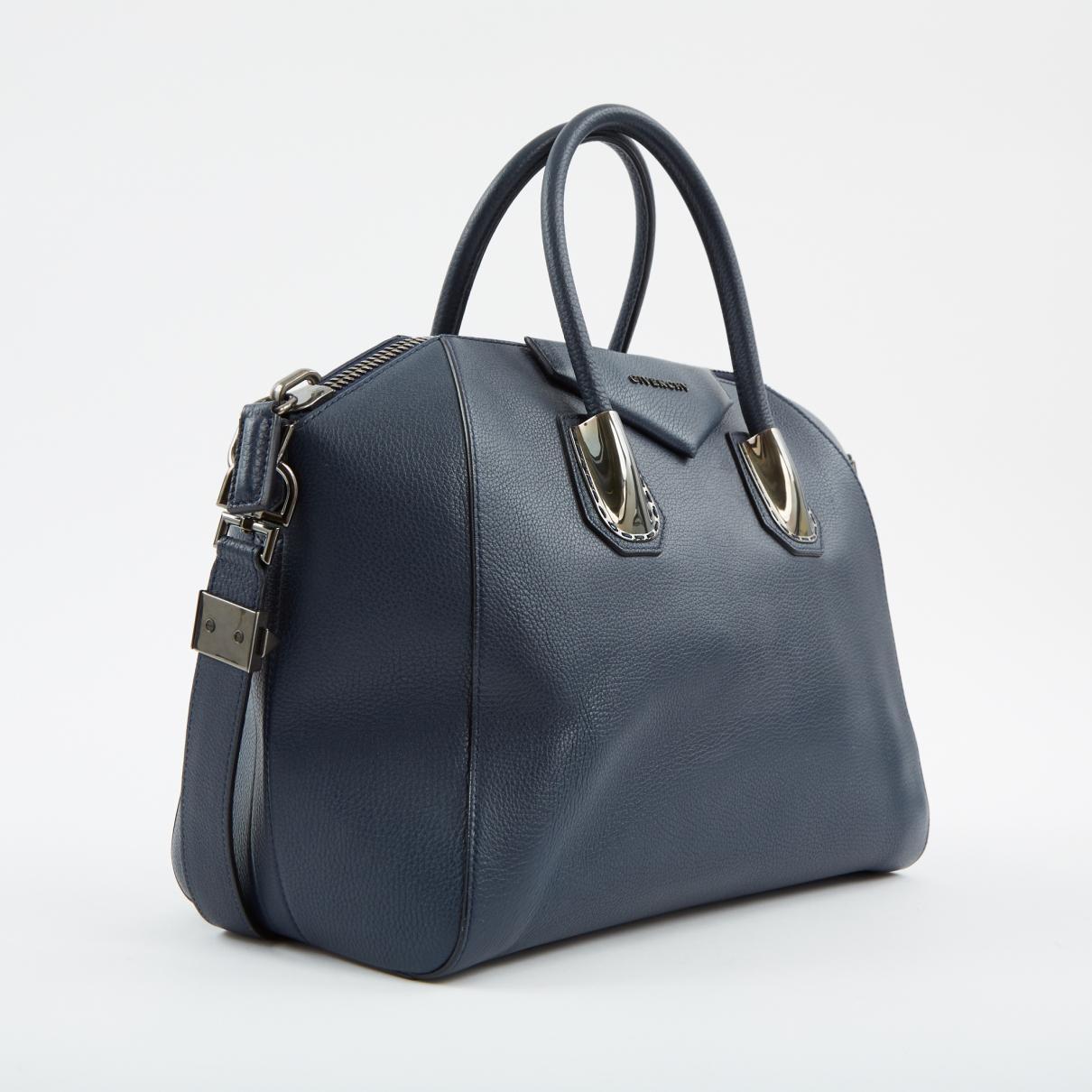 21f633aaf169 Givenchy antigona leather handbag in blue lyst jpg 1210x1210 Givenchy navy  antigona