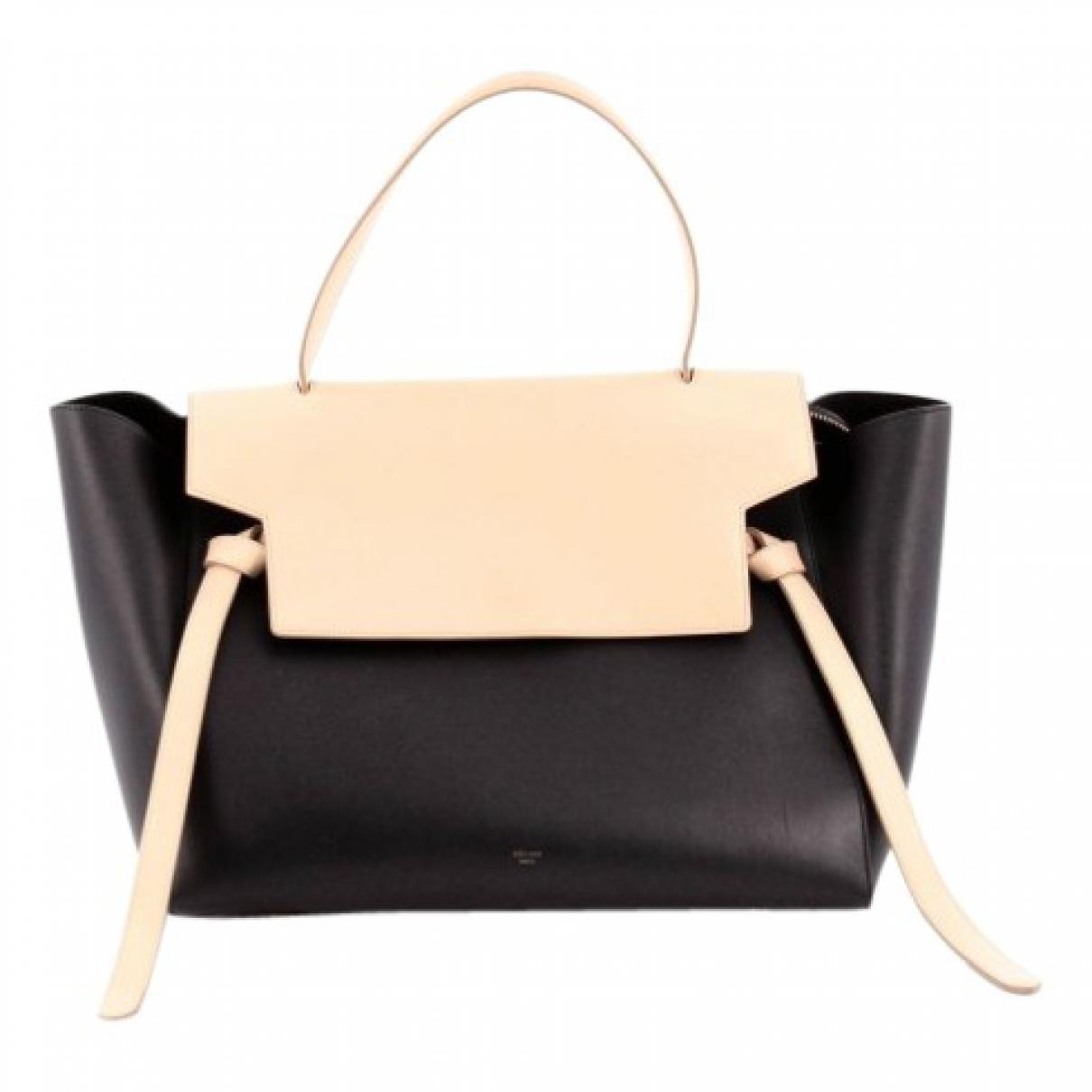 Lyst - Céline Pre-owned Belt Leather Handbag in Black 724c08a1a4608