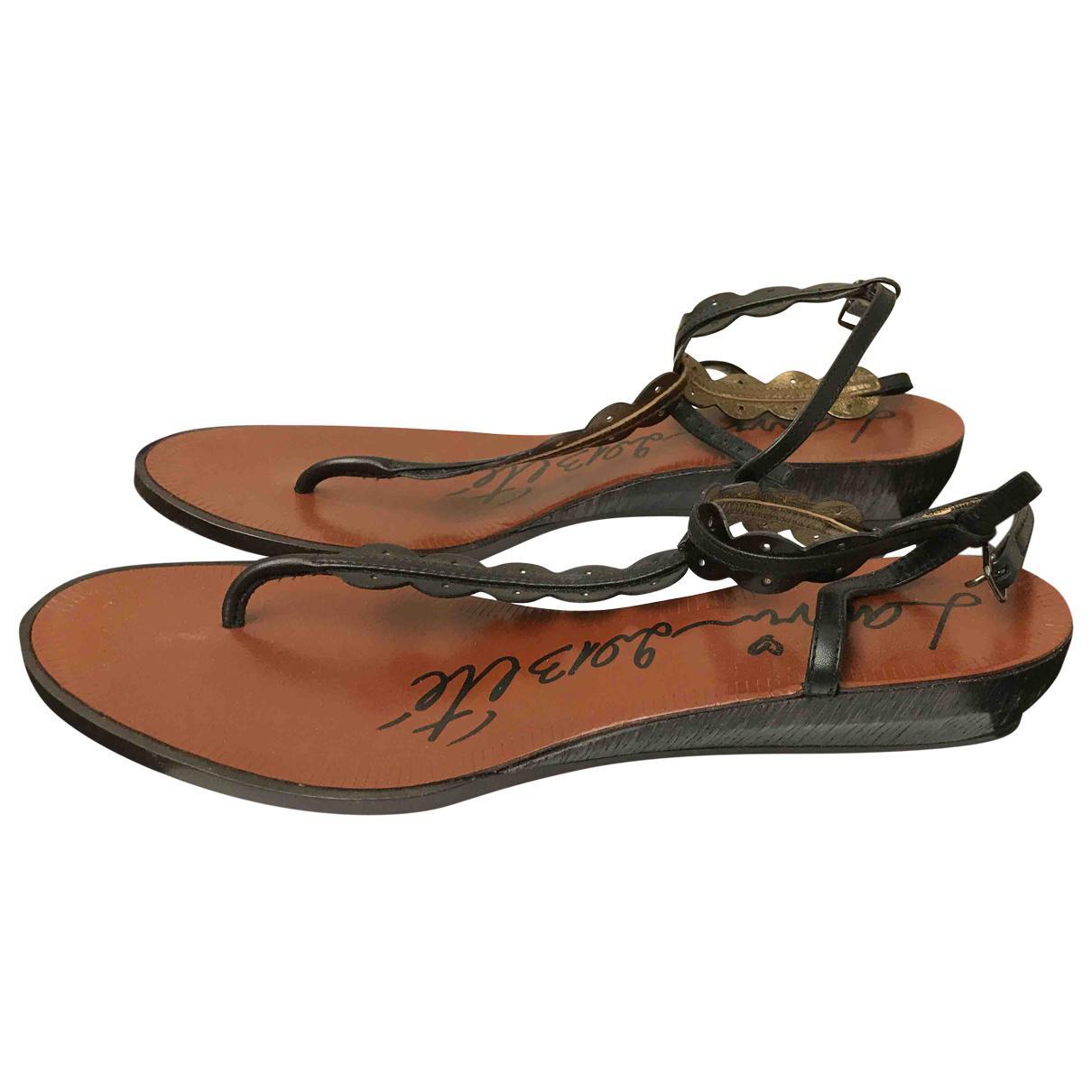 Pre-owned - Leather flip flops Lanvin Largest Supplier Cheap Online bPEADi