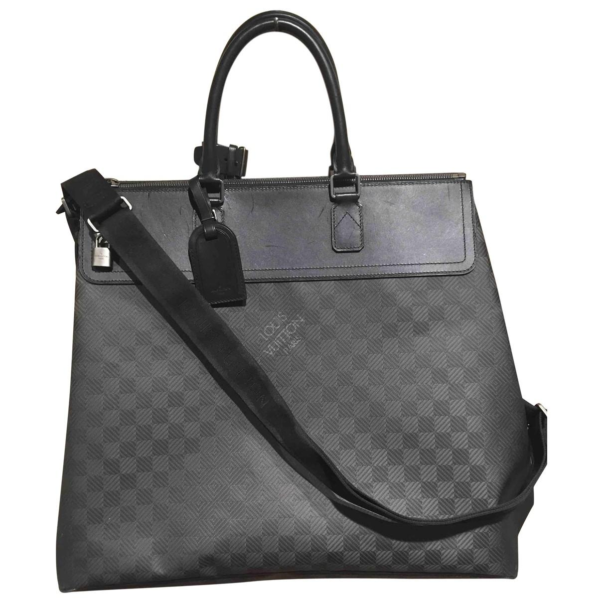 c3a1da50a899 Louis Vuitton Black Cloth Bag in Black for Men - Lyst