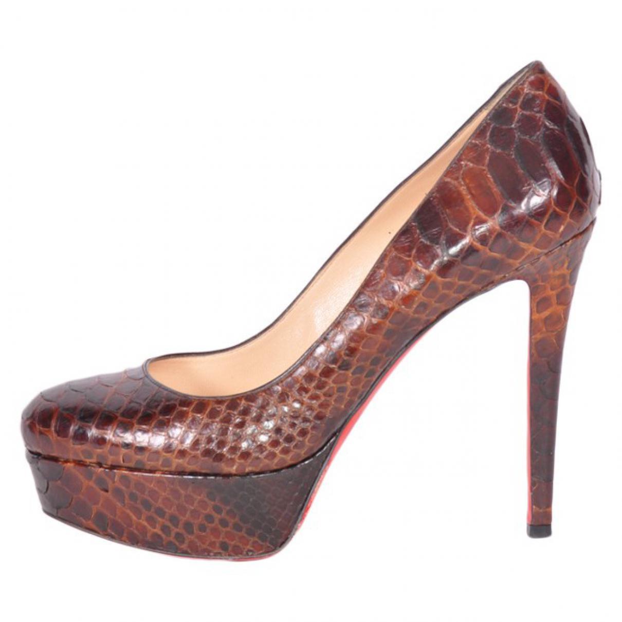 Amazon For Sale Pre-owned - Python heels Christian Louboutin Buy Cheap Big Discount YbEik4goh