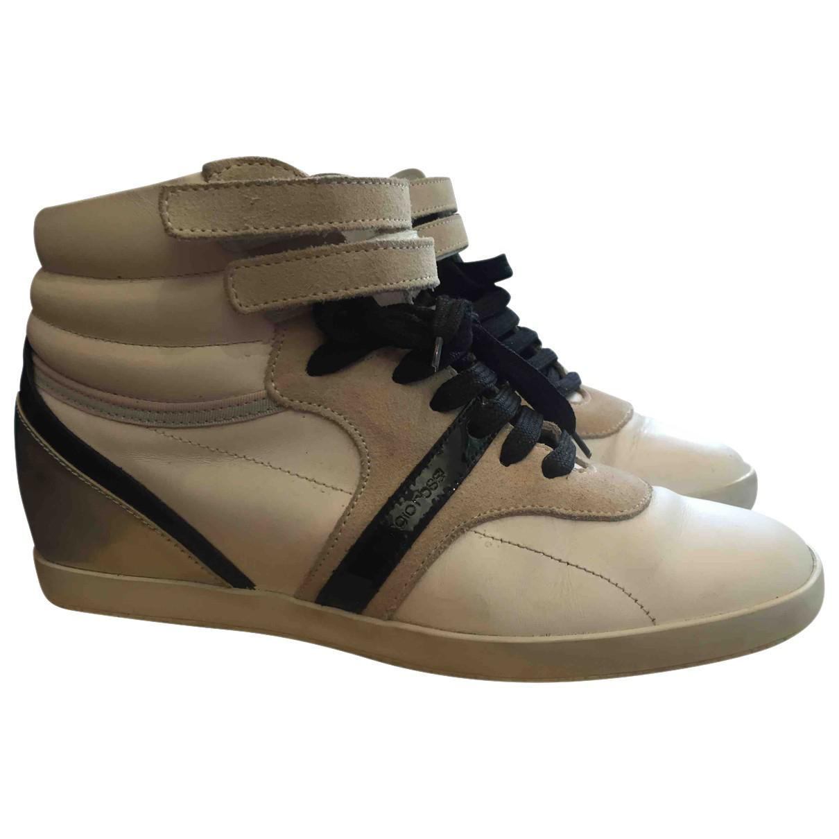 Pre-owned - Leather trainers Sergio Rossi