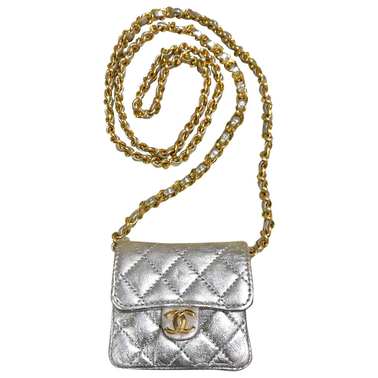 Lyst chanel vintage gold leather handbag in metallic jpg 1210x1210 Silver  and gold leather handbags 87bf7f758c7d4