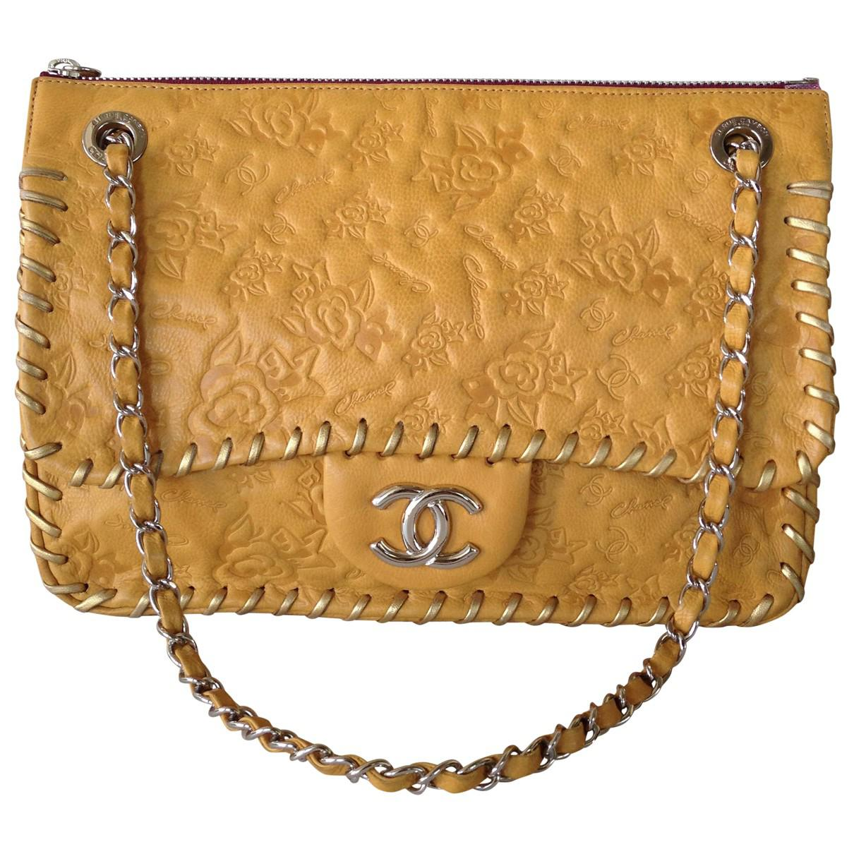 Pre-owned - Beige Leather Handbag Chanel Trs8YJdDX