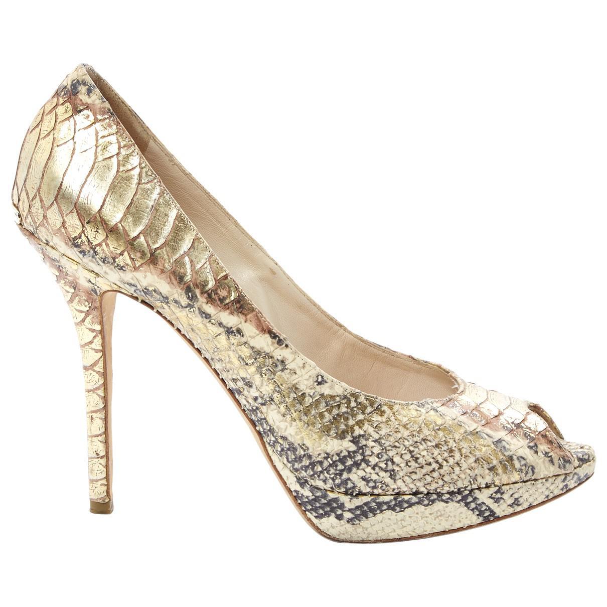 Pre-owned - Python heels Dior evftqiQwQh