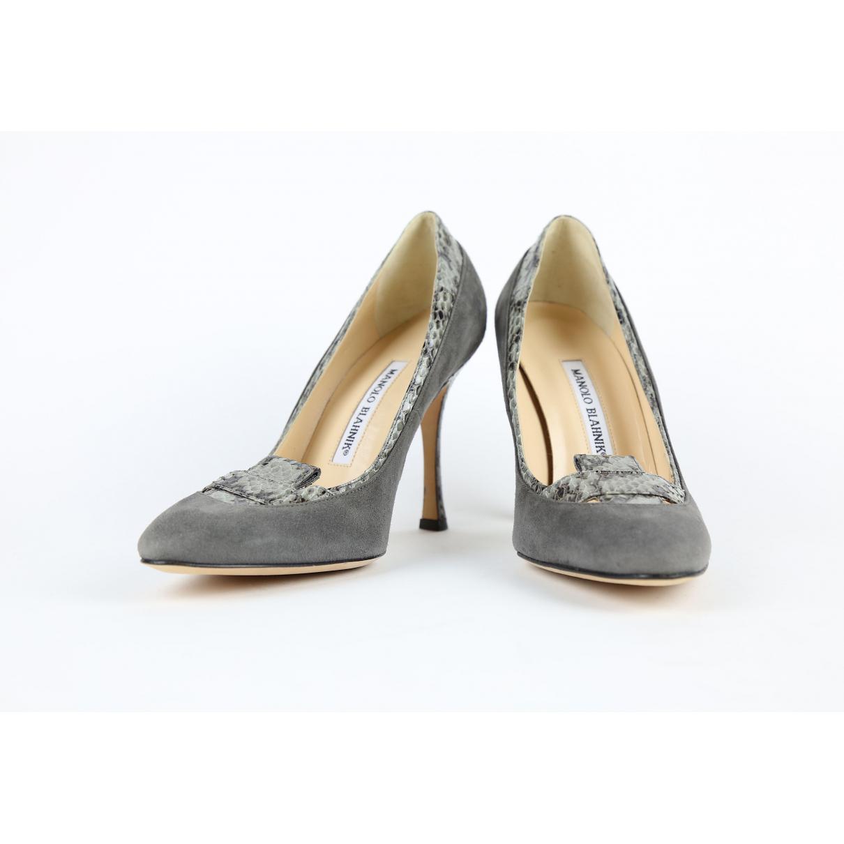1aa1a8c9a139f Manolo Blahnik - Gray Grey Suede Heels - Lyst. View fullscreen