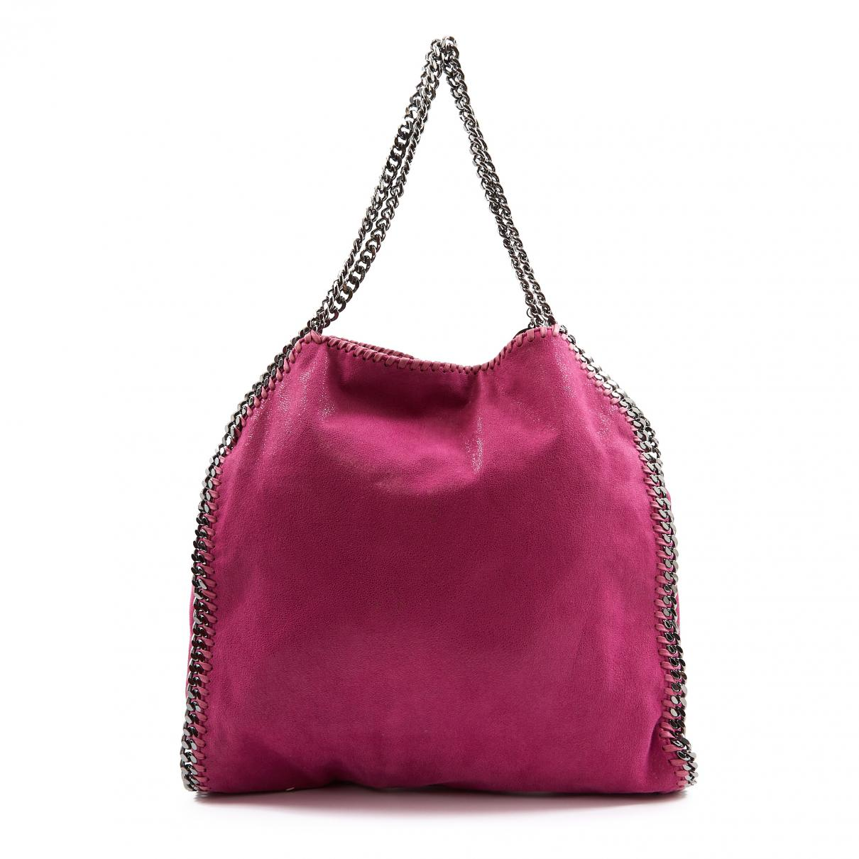 847464630d5d Lyst - Stella Mccartney Falabella Pink Polyester Handbag in Pink