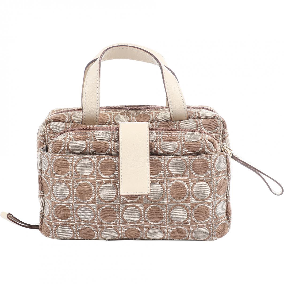 f7a36e328 Ferragamo. Women's Natural Cloth Clutch Bag. $127 From Vestiaire Collective  ...