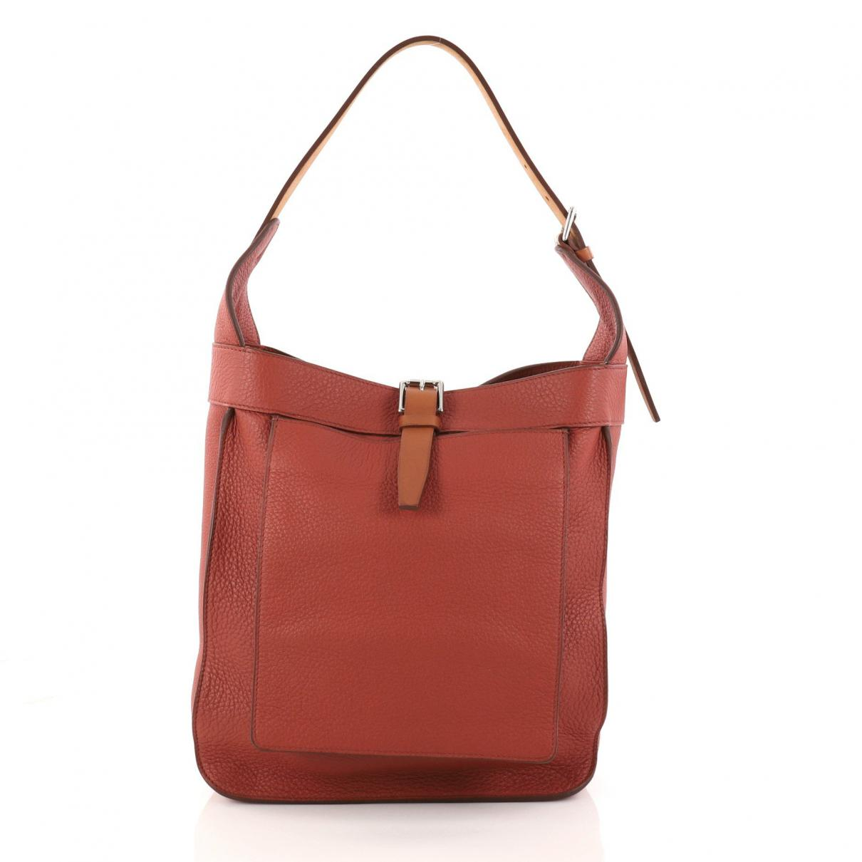 96337030e7b3 ... promo code for lyst hermès pre owned brown leather handbag in brown  a4eed 92513 sale hermes white ...