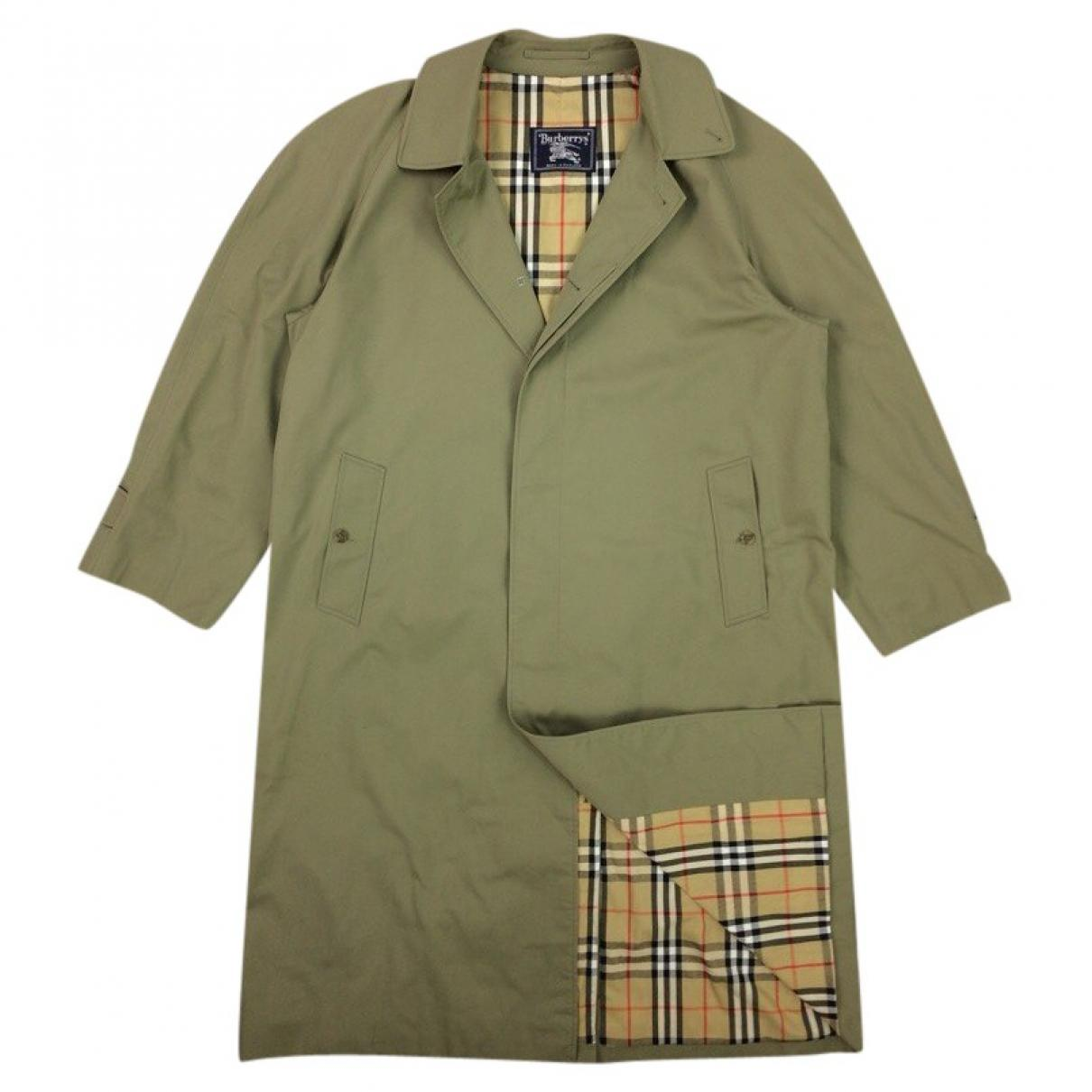 a68de2797f1d Burberry Pre-owned Trenchcoat in Green for Men - Lyst