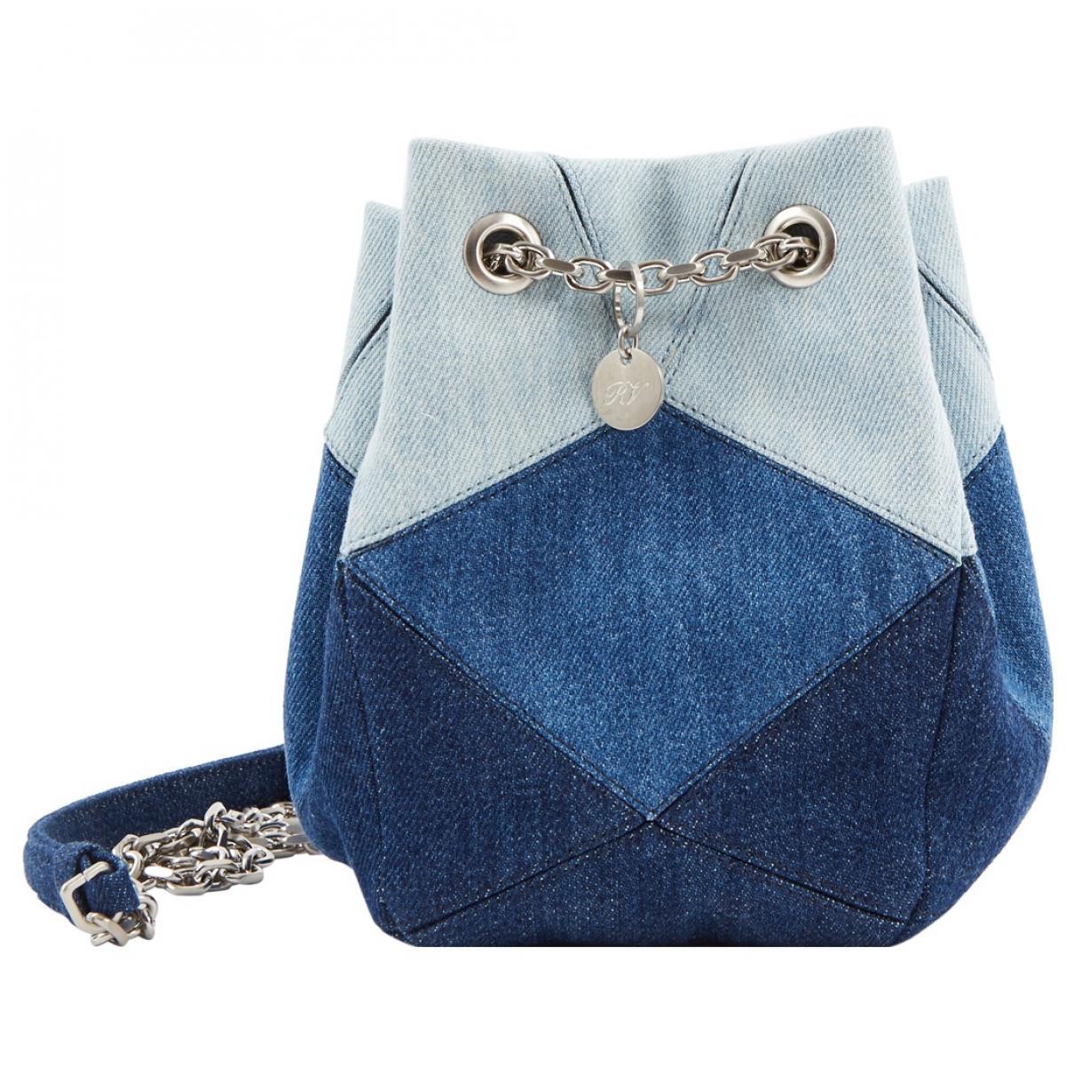 Lyst - Roger Vivier Pre-owned Cloth Handbag in Blue bcb6b9cf9029d