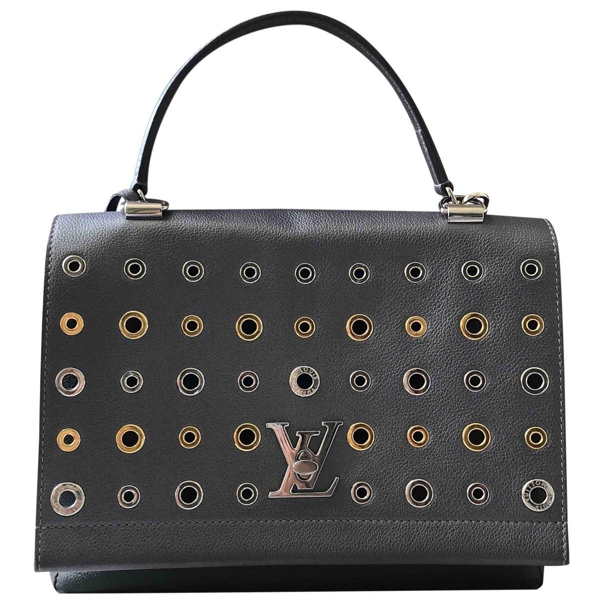 6664251f05bf Lyst - Sac à main en cuir Louis Vuitton en coloris Gris