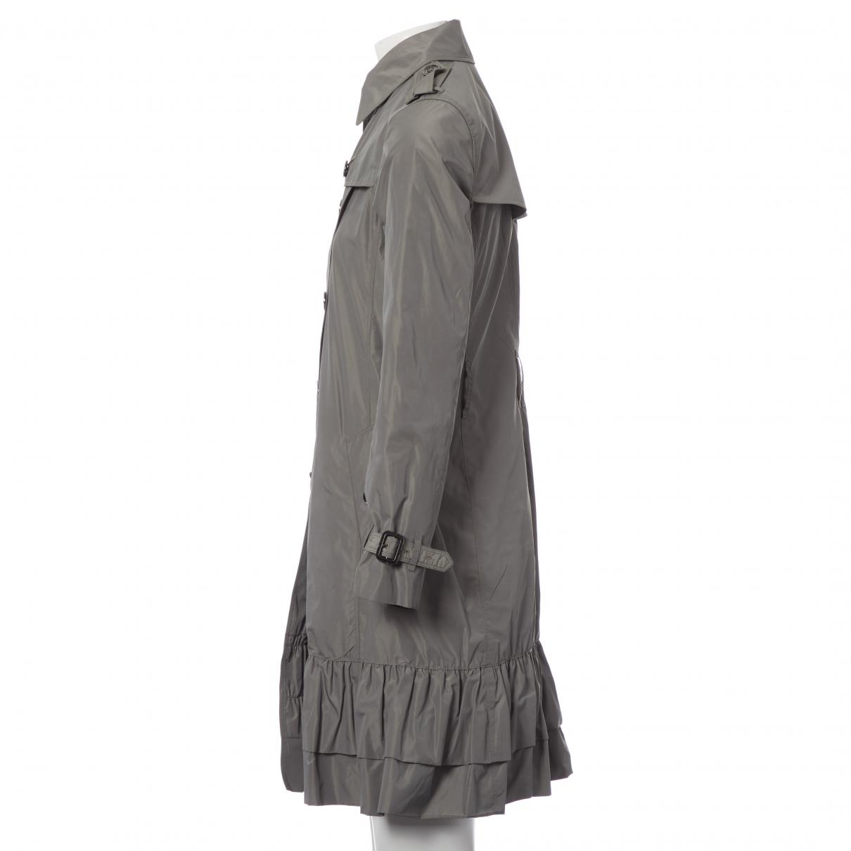 15aa5e4ad Lyst - Burberry Grey Polyester Coat in Gray