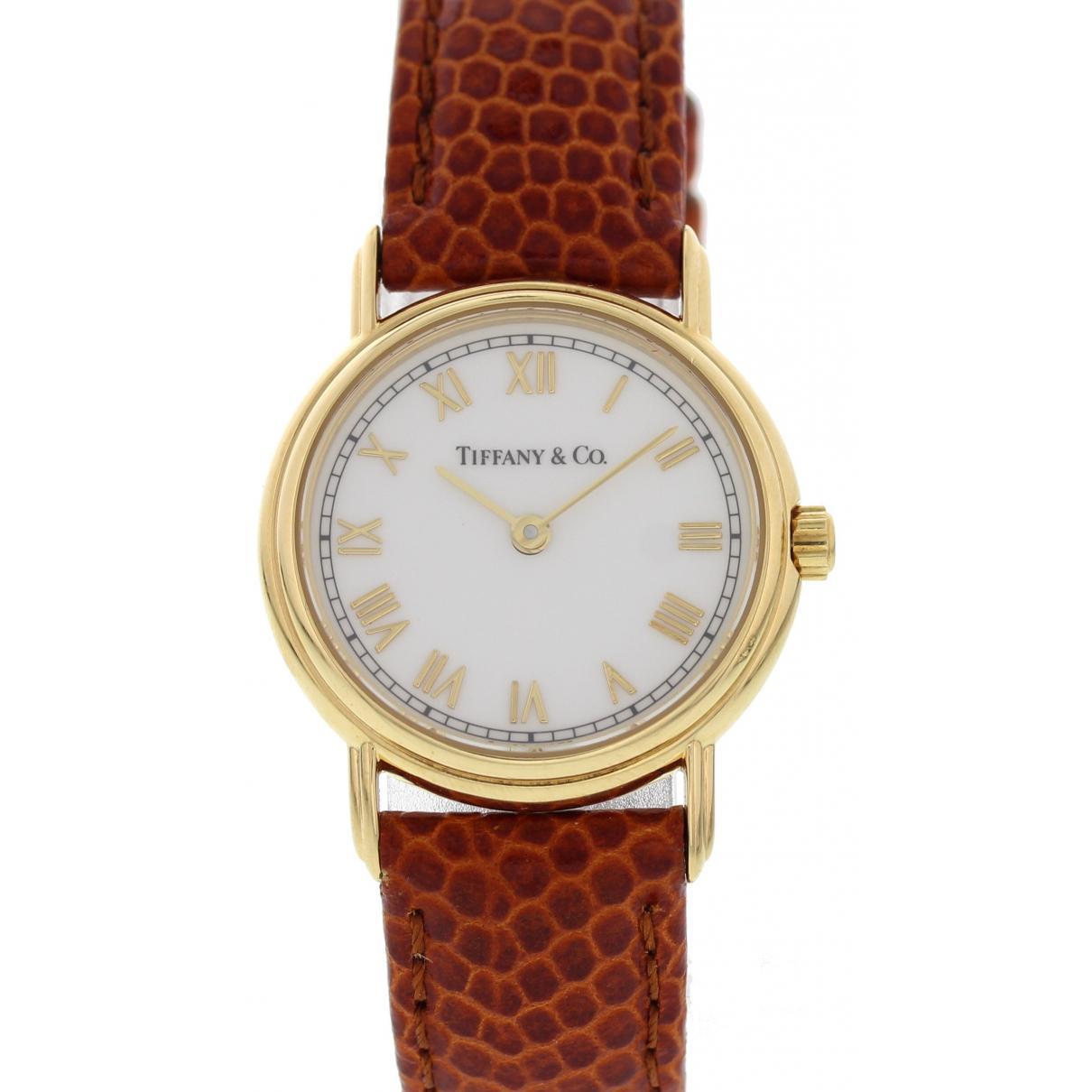 5adb390f49 Lyst - Tiffany   Co Yellow Gold Watch in Brown