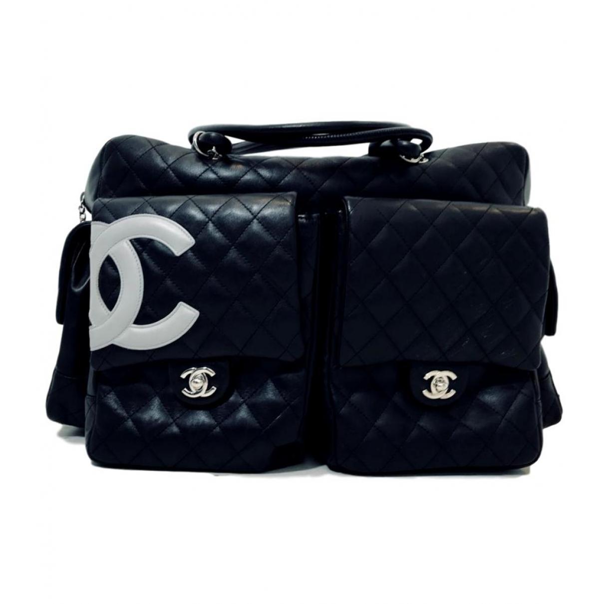 449530cdd68 Lyst - Sac 48h Cambon en cuir Chanel en coloris Noir