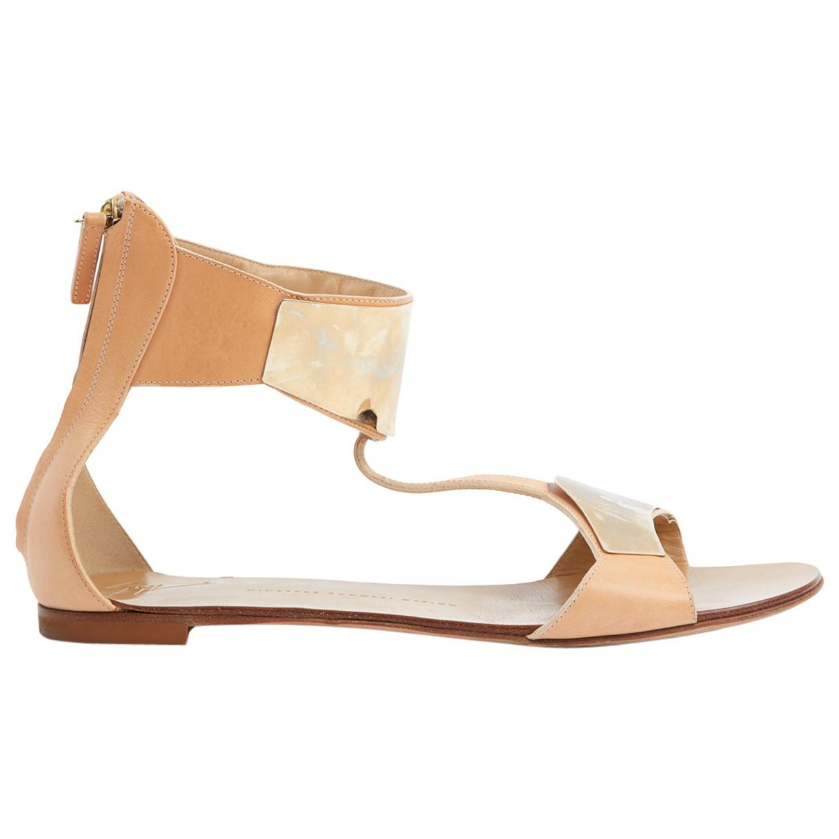 Pre-owned - Leather sandal Giuseppe Zanotti
