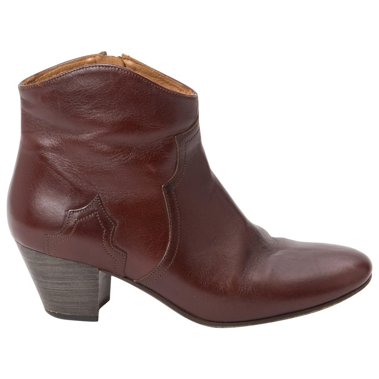 Pre-owned - Dicker leather ankle boots Isabel Marant Really Cheap Discount Original Free Shipping Buy 72Kdq2oVK
