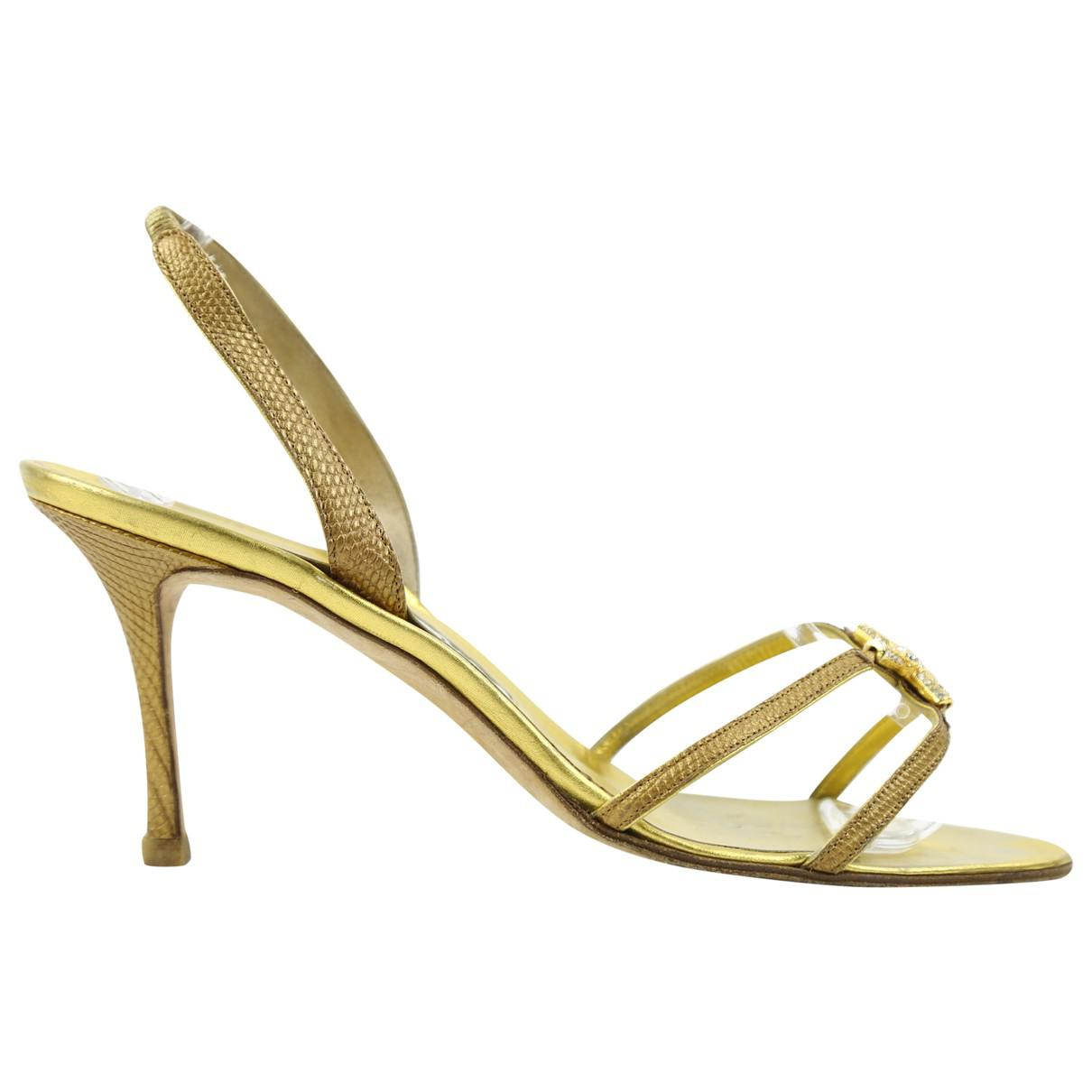 Pre-owned - Lizard heels Manolo Blahnik R5Mpp4qMWo