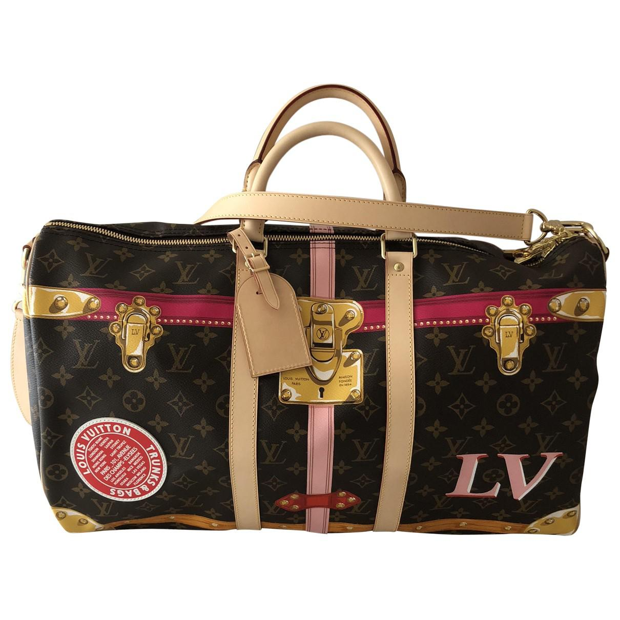 8686edc84d4a Louis Vuitton - Black Keepall Travel Bag - Lyst. View fullscreen