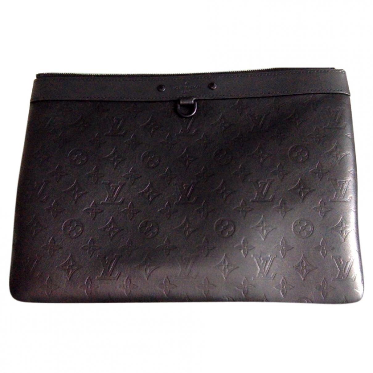 5b433c49fbc6 Lyst - Louis Vuitton Black Leather Bag in Black for Men