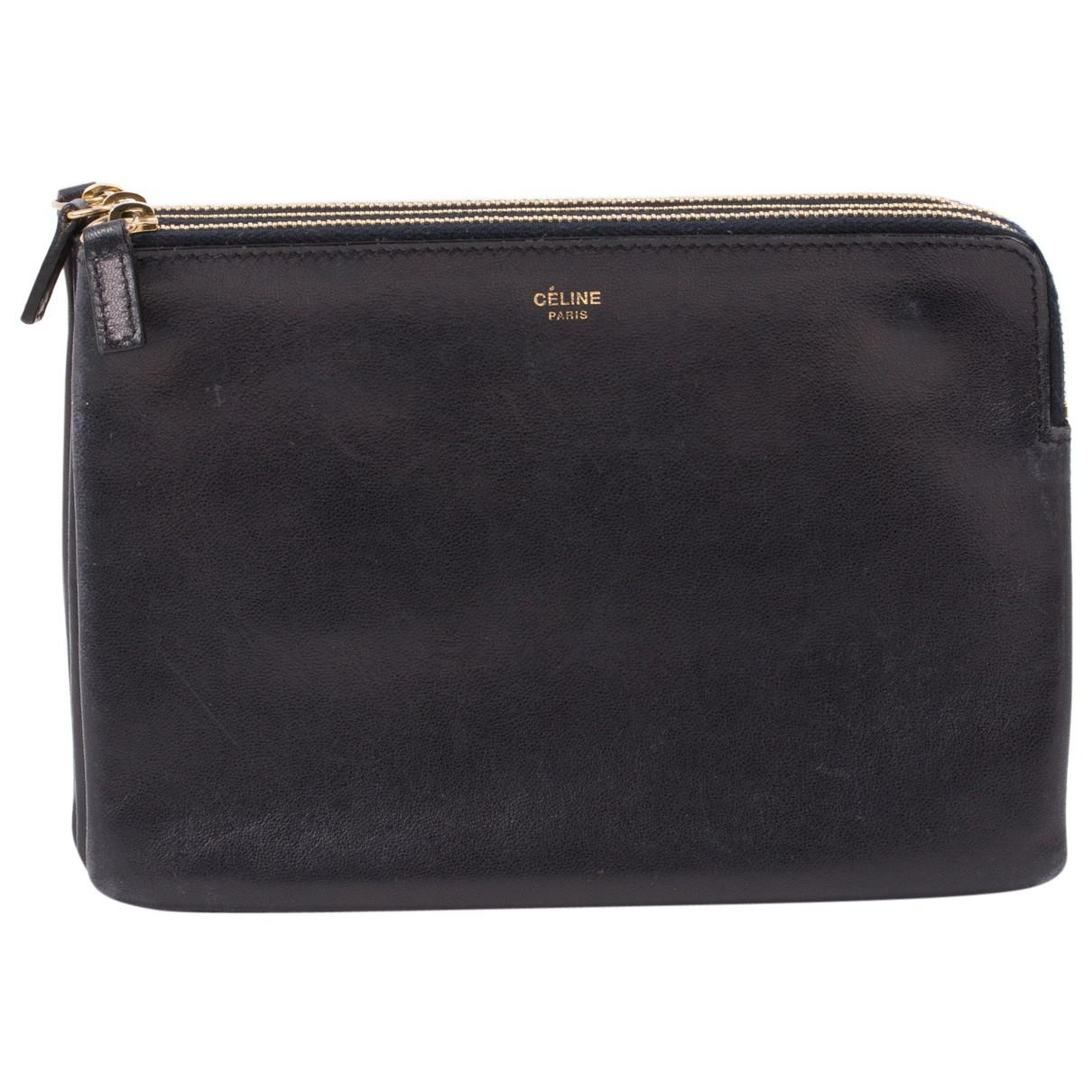 Pre-owned - Trio leather clutch bag Celine eesVOUxFp