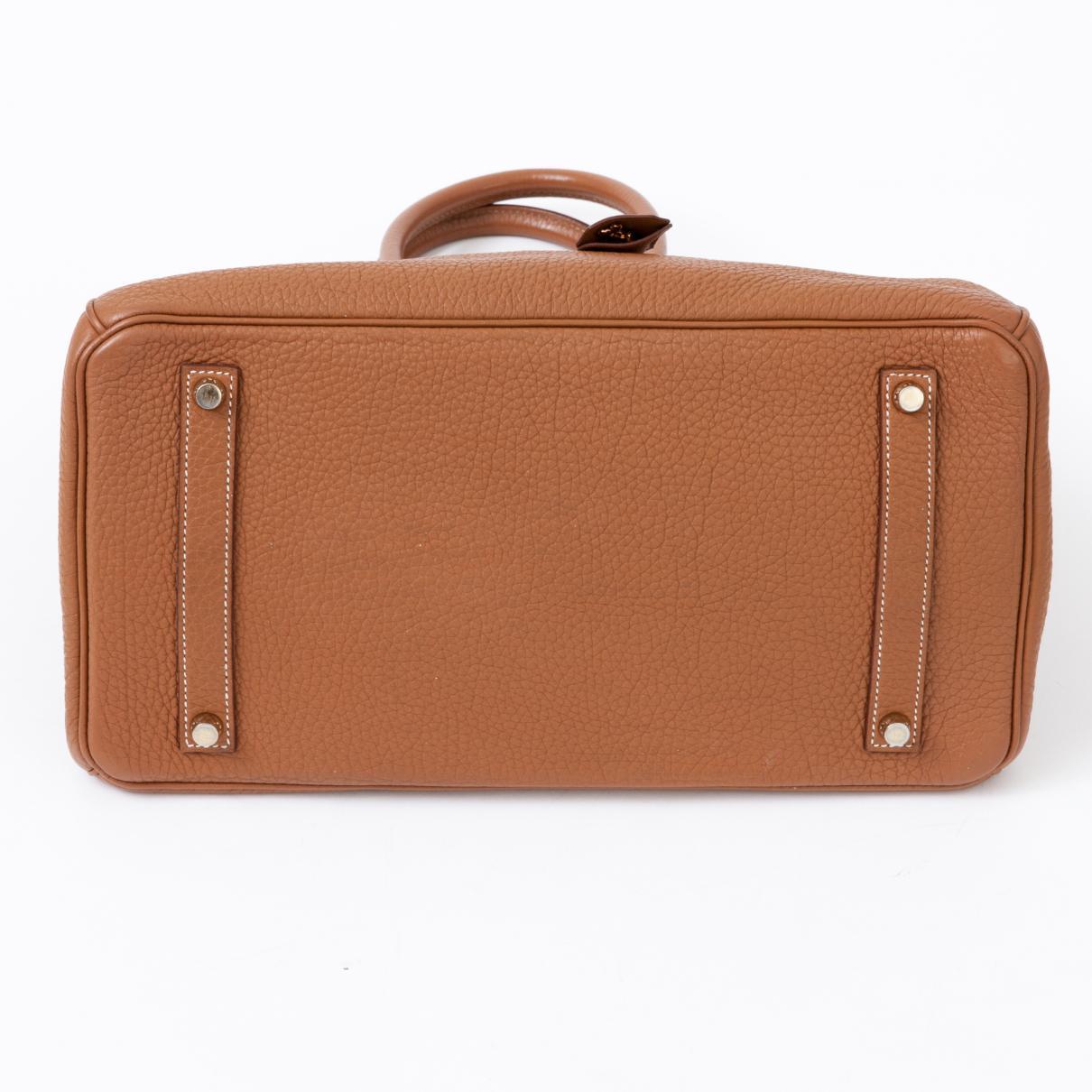bb1a309a3d27 Lyst - Hermès Birkin 35 Leather Handbag in Brown