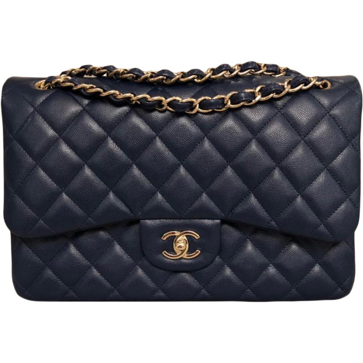 Lyst - Sac à main Timeless en cuir Chanel en coloris Bleu c09166dfdff