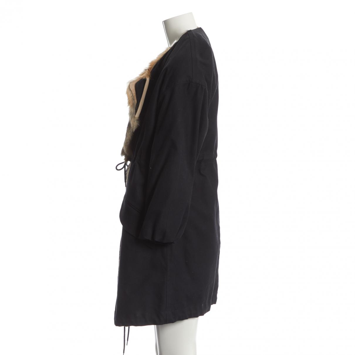 bf0d20a984442 Lyst - Isabel Marant Pre-owned Navy Cotton Coats in Blue