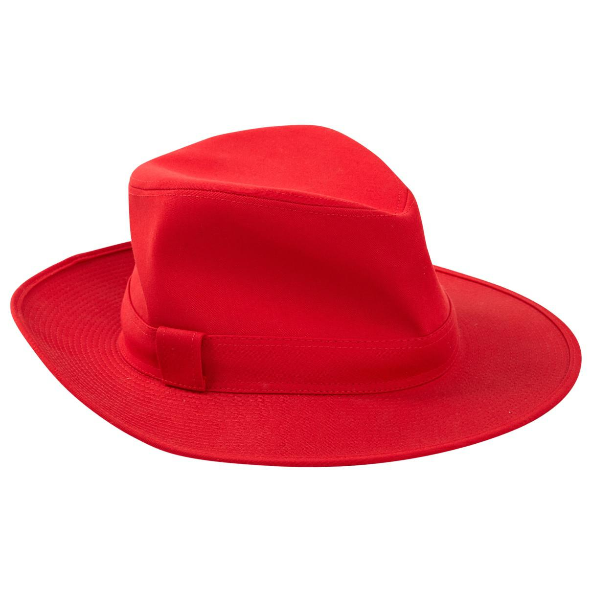 4b9298cc07dd9 Hermès. Women s Red Cotton Hats.  283 From Vestiaire Collective